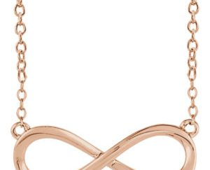 sts85947r - Gold Infinity Necklace