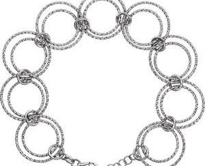 stsch882 - Interlocking Circle Necklace