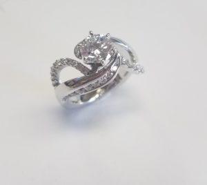 Diamond Wave Ring