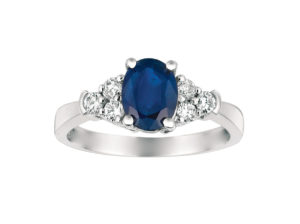 W3777SP - Sapphire and Diamond Ring