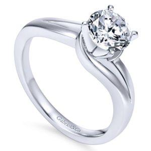 Gabriel Elise 14k White Gold Round Bypass Engagement RingER6680W4JJJ 31 - 14k White Gold Round Bypass Engagement Ring