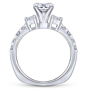 Gabriel Emerson 14k White Gold Princess Cut 3 Stones Engagement RingER4020W44JJ 21 - 14k White Gold Princess Cut 3 Stones Diamond Engagement Ring