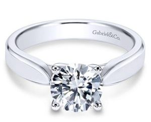 Gabriel Jamie 14k White Gold Round Solitaire Engagement RingER6592W4JJJ 11 - 14k White Gold Round Solitaire Engagement Ring