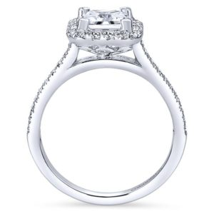 Gabriel Patience 14k White Gold Princess Cut Halo Engagement RingER7266W44JJ 21 - 14k White Gold Princess Cut Halo Diamond Engagement Ring