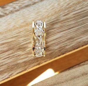 Men's Celtic Knot Two-Tone Ring