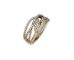 swirlfinal - Criss-Cross Diamond Ring