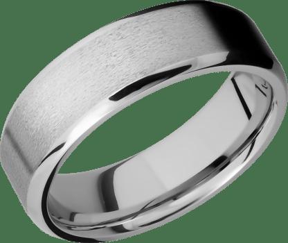 CC7B FINISHSTONEPOLISH IMAGE0011 - Cobalt Chrome Stone Finish Men's Ring