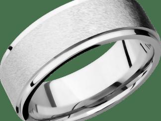 CC8FGE FINISHANGLE STONEPOLISH IMAGE0011 - Cobalt Chrome Stone Finish Men's Ring