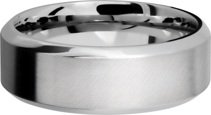 CC8HB FINISHANGLE SATINPOLISH IMAGE0031 - Cobalt Chrome 8 mm Wide High Beveled Men's Ring
