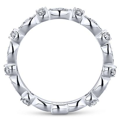 Gabriel 14k White Gold Stackable Ladies RingLR4579W45JJ 21 - 14k White Gold Stackable Diamond Ladies' Ring