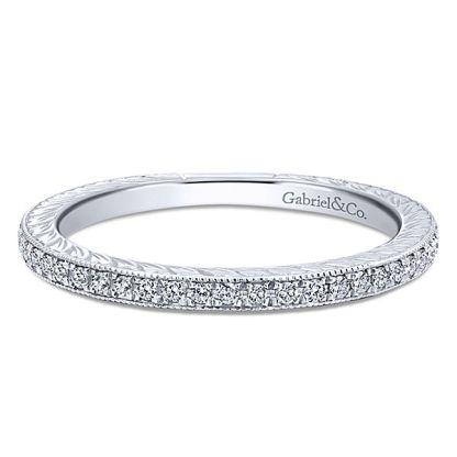 Gabriel 14k White Gold Stackable Ladies RingLR4793W45JJ 11 - 14k White Gold Stackable Diamond Ladies' Ring