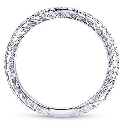 Gabriel 14k White Gold Stackable Ladies RingLR4793W45JJ 21 - 14k White Gold Stackable Diamond Ladies' Ring