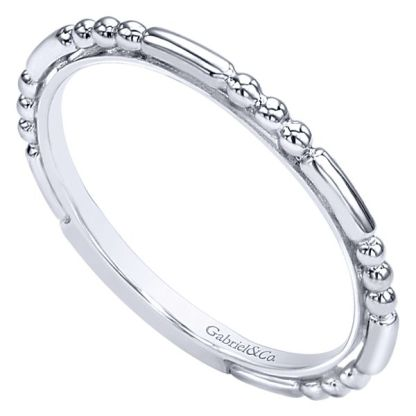 Gabriel 14k White Gold Stackable Ladies RingLR4909CW4JJJ 31 - 14k White Gold Stackable Ladies' Ring
