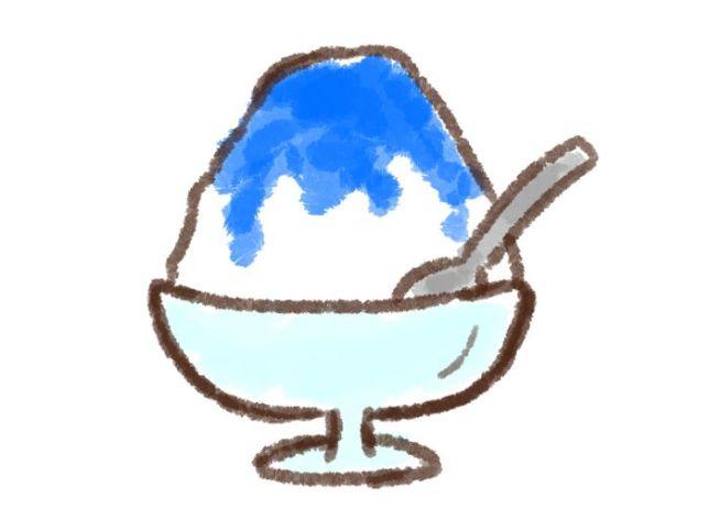 青色の食べ物 ブルーハワイ