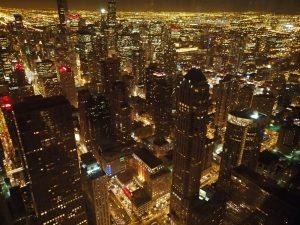 ジョンハンコックセンター シカゴNo.1の夜景はココ 『摩天楼はバラ色…ではなく琥珀色に』