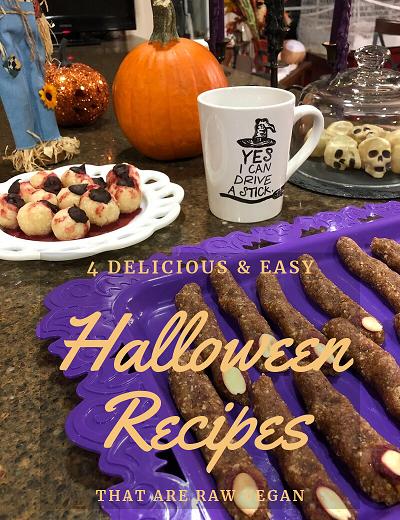 4 Delicious & Easy Halloween Recipes that Are Raw Vegan