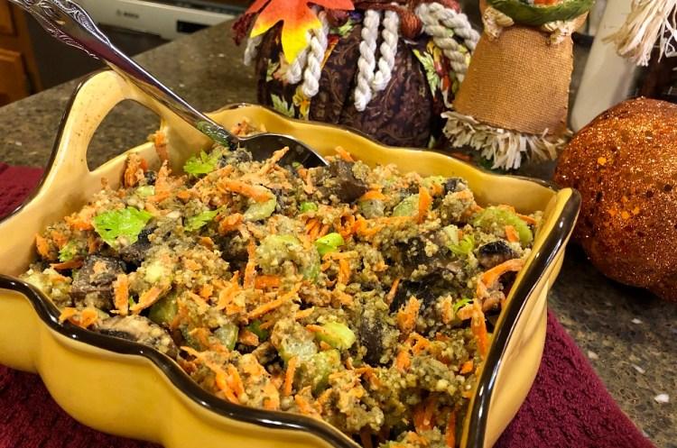 Raw Vegan Stuffing for Thanksgiving