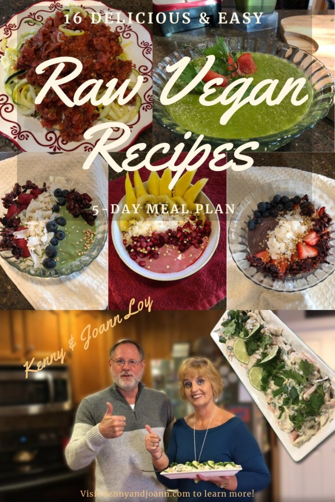 16 Delicious and Easy Raw Vegan Recipes 5-Day Meal Plan