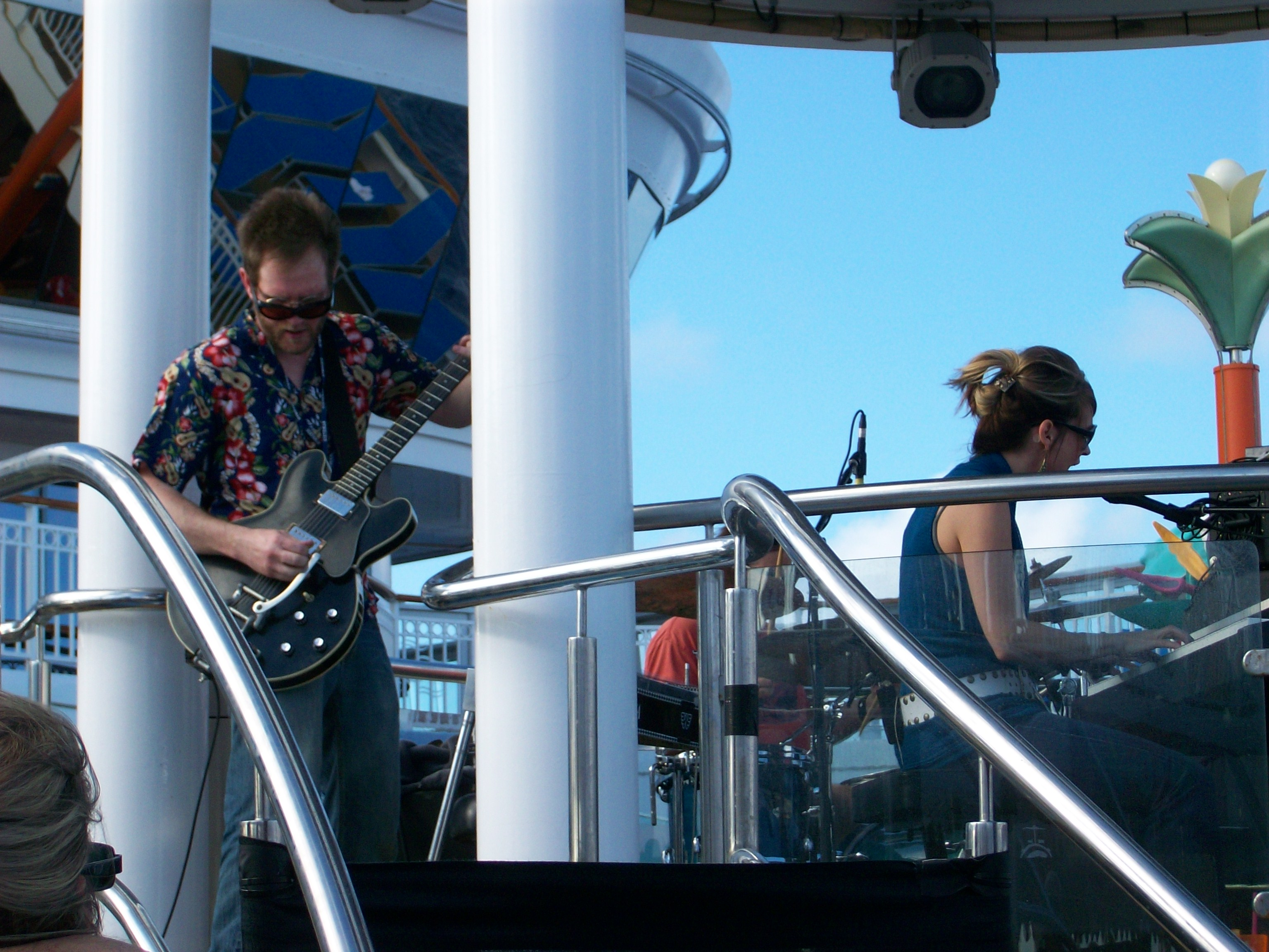 With Over the Rhine on the Cayamo Cruise.  Poor, poor Kenny.