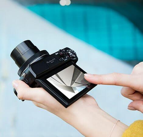 Appareil photo numérique Canon PowerShot G7 X Mark II avec capteur 1 pouce et écran LCD inclinable - Wi-Fi et compatible NFC (noir)