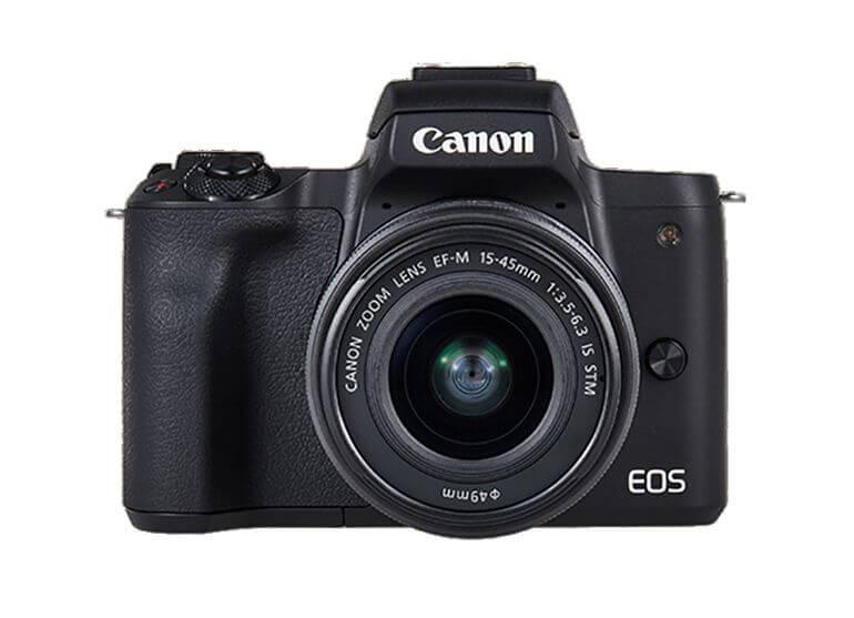 Kit d'appareil photo sans miroir Canon EOS M50 avec EF-M15-45 mm et vidéo 4K - Noir