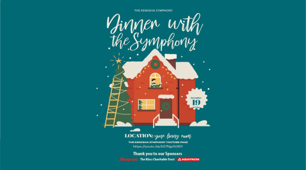 FREE LIVE STREAM CONCERT! Dinner with the Kenosha Symphony CHRISTMAS CONCERT