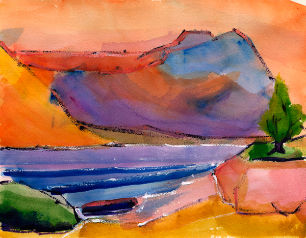 lake mead expression watercolor