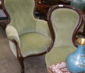 Victorian balloon-back chairs