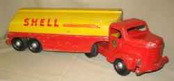 battery-operated vintage toy truck