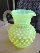 vaseline glass pitcher