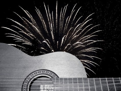 Guitar and Fireworks