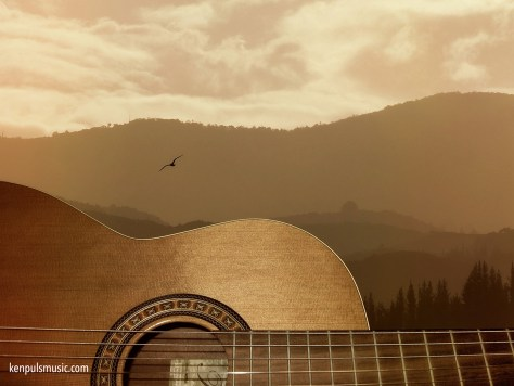 Guitar and Mountains