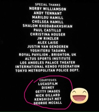 Name in credits!