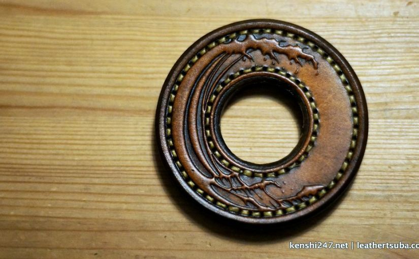 """<span class=""""entry-title-primary"""">Leather Tsuba (review #2)</span> <span class=""""entry-subtitle"""">革鍔</span>"""