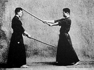Paired men cutting practise