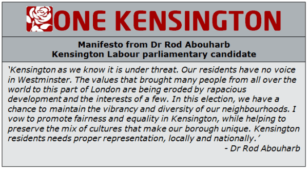 parliamentary candidate for Kensington