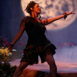 A Midsummer Night's Dream - Puck in front of Moon