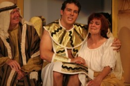 Joseph Amazing Technical Dreamcoat Joseph with Mom and Dad