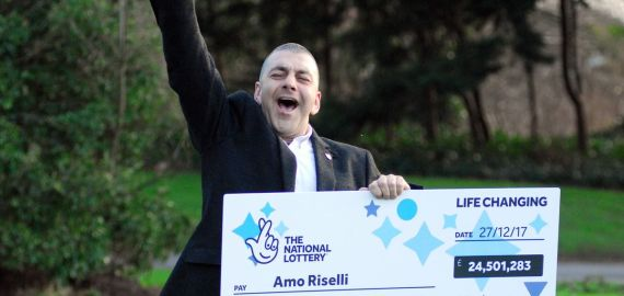 Watch This Amazing Reaction From £24 Million Lotto Winner!