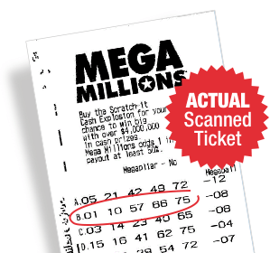 Winning US Megamillions Lottery Ticket