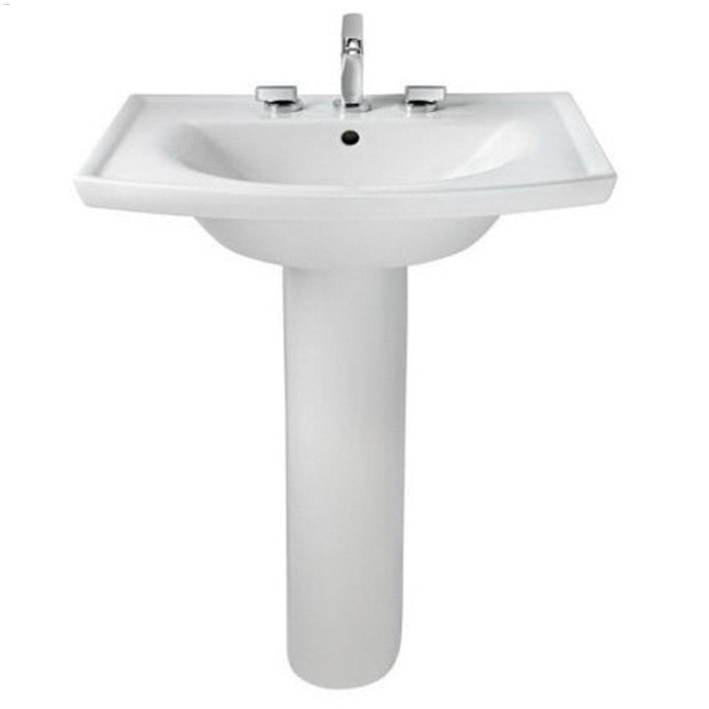 vitreous china white tropic boulevard pedestal sink leg