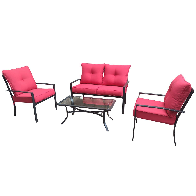 belmont lounge set 4 piece