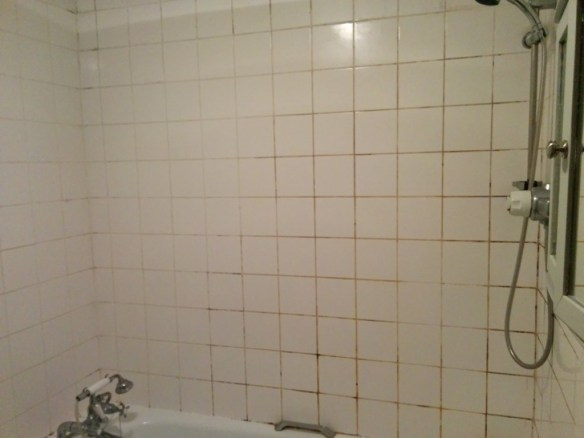 Ceramic Bathroom Tiles Grout Before Cleaning Beckenham