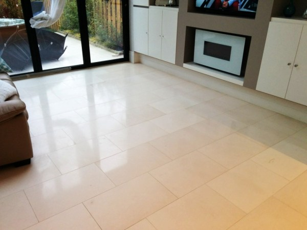 Limestone Tiled Floor After Cleaning Beckenham