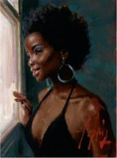 AT THE WINDOW by Fabian Perez.