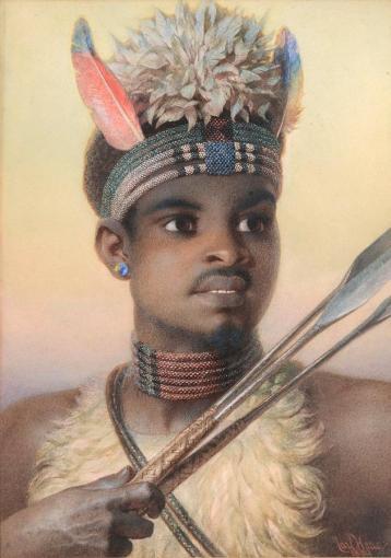 Carl Haag-Uskai, a Contented Zulu man
