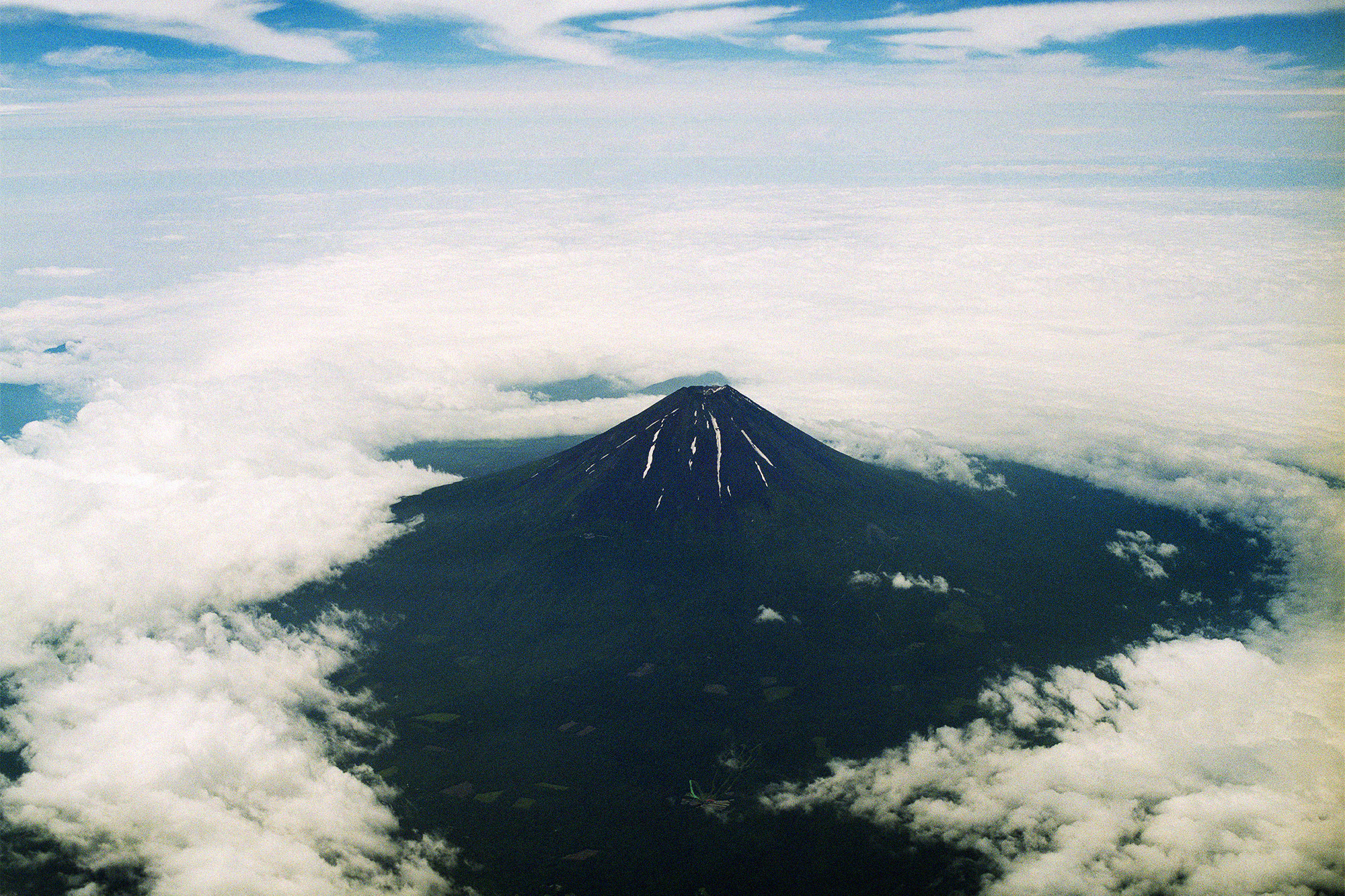 Mt.Fuji, the highest mountain in Japan. It is said that this area was one of the U.S. Army's targets during World War 2. Shizuoka, June 2015.