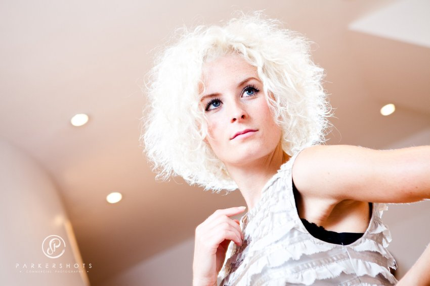 Model showing hair style by The Studio in Tunbridge Wells