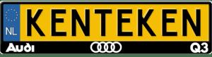 Audi-Q3-kentekenplaathouder