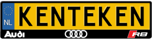 Audi-R8-kentekenplaathouder